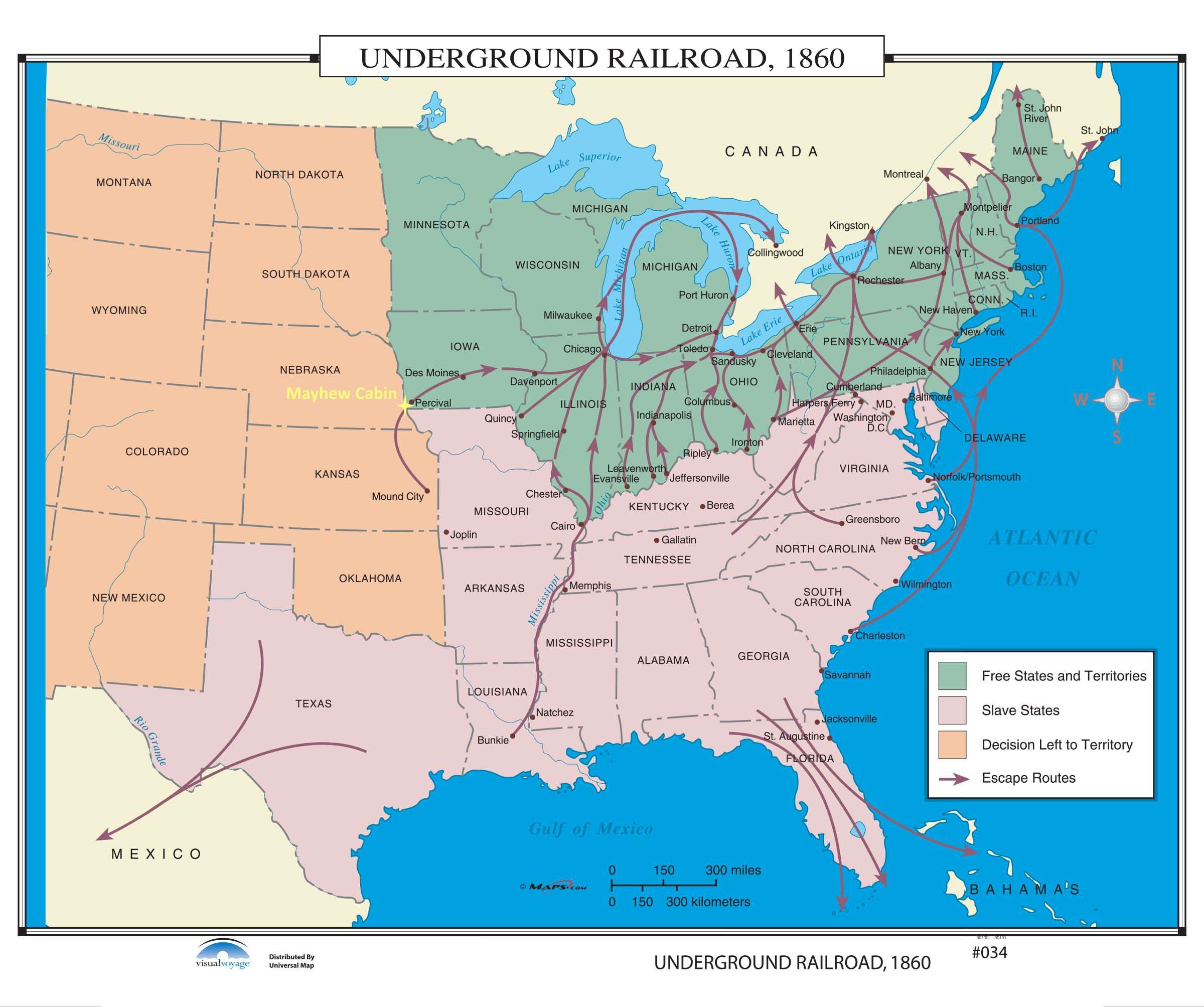 1860 - US UGRR Routes